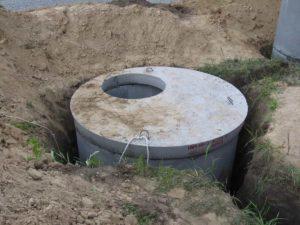 Как установить септик из бетонных колец