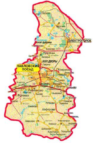 Абиссинская скважина в Павловском Посаде карта