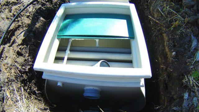Вход сточных вод в скптик