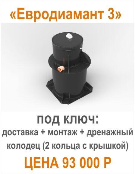 Септик для дачи Евродиамант 3