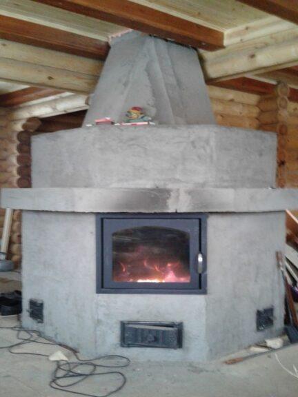 печь-камин без отделки