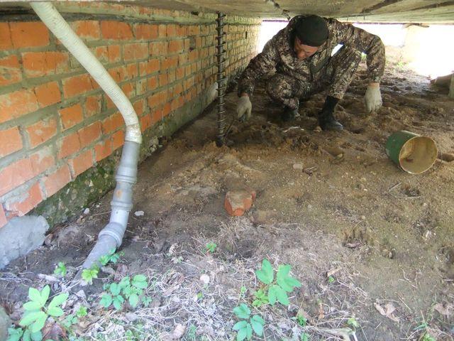 бурим скважину под домом в Орехово Зуево