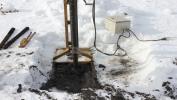 Абиссинская скважина в Шатуре, бурение зимой