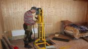 Абиссинская скважина в Шатуре, дурение в доме