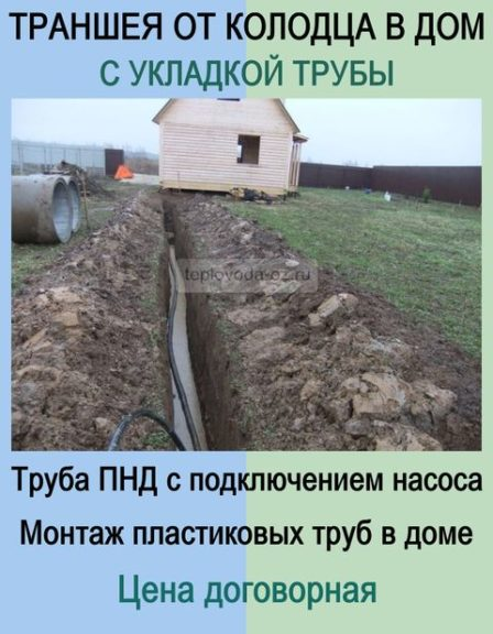 Прокопать траншею и проложить водопроводную трубу в Орехово-Зуево